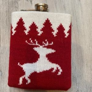 Stainless steel reindeer flask